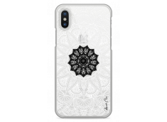 Coque iPhone X Black Flower Mandala
