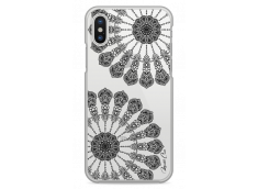 Coque iPhone XR Black Stars Mandala