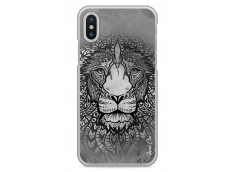Coque iPhone X Black & White Lion Mandala