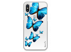 Coque iPhone X Blue beautiful butterflies