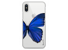 Coque iPhone X Blue butterfly