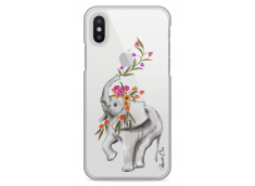 Coque iPhone X Boho Elephant with flowers