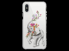 Coque iPhone X Boho Elephant with flowers