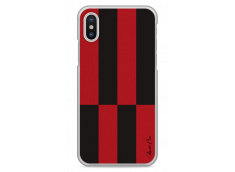 Coque iPhone X Red & Brown geometric forms