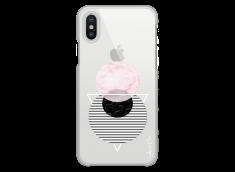 Coque iPhone X Cercles Géométriques en marbre