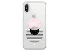 Coque iPhone XS MAX Cercles Géométriques en marbre