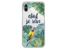 Coque iPhone X Tropical watercolor design Chut je rêve