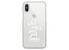 Coque iPhone X Do What Makes Your Soul Happy