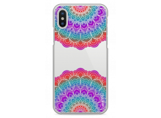 Coque iPhone X Double Multicolor Galaxy Mandala