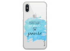 Coque iPhone X Maintenant en mode pause