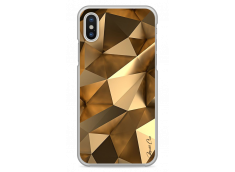 Coque iPhone X Fashion gold geometric forms