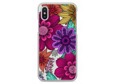 Coque iPhone X Floral Vibrant hand drawn illustration