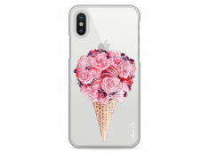 Coque iPhone X Flowers and macarons bouquet
