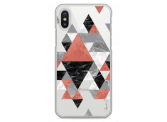 Coque iPhone X Geometric Collage Marble