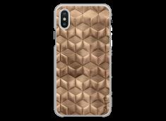 Coque iPhone X Gold deco geometric