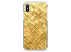 Coque iPhone X Gold Geometric Design