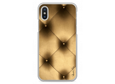 Coque iPhone X Soft gold geometric design
