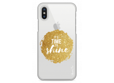 Coque iPhone X Gold Glitter - It's Time to Shine