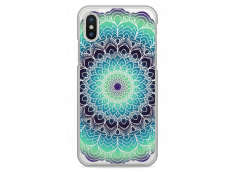 Coque iPhone X Green Galaxy Mandala