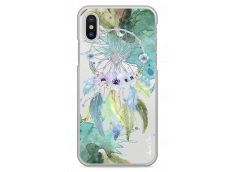 Coque iPhone XS MAX Green watercolor floral dreamcatcher