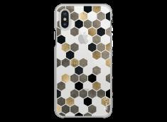 Coque iPhone X Grey & Black Cubic