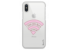 Coque iPhone X I love you more than wifi