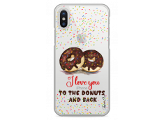Coque iPhone X I love you to the donuts and back
