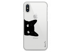 Coque iPhone X Cat je te vois