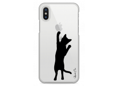 Coque iPhone X Cat let's play together