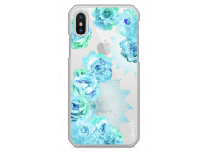 Coque iPhone 5/5s/SE Mandala & Blue Flowers