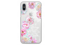 Coque iPhone X Mandala & Pink Flowers