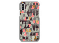Coque iPhone X Multicolor Triangle Design