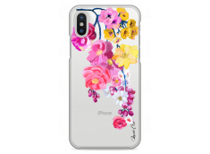 Coque iPhone X Painted Flowers