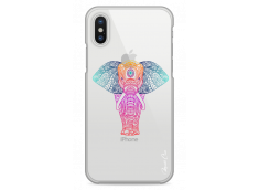 Coque iPhone X Pastel Tribal Elephant Mandala