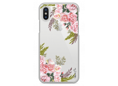Coque iPhone X Pink Flowers Painted
