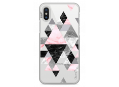 Coque iPhone X Geometric Triangle Marble