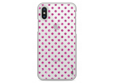 Coque iPhone X Pink glitter dots