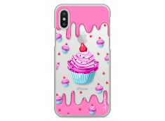 Coque iPhone X  Pink Chocolate muffins pattern