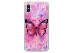 Coque iPhone X Artistic design watercolor butterfly
