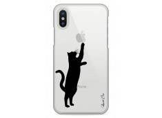 Coque iPhone X Cat play with me
