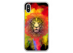 Coque iPhone X Power Color Lion Mandala