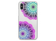 Coque iPhone X Purple & Blue Mandala