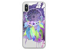 Coque iPhone X  Purple watercolor floral dreamcatcher