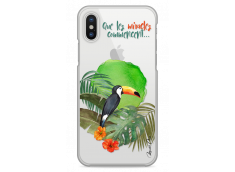 Coque iPhone X  Tropical watercolor design Que les miracles commencent