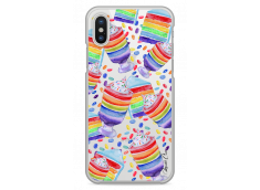 Coque iPhone X Ice cream unicorn pattern