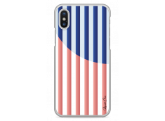 Coque iPhone X Red & Blue geometric forms