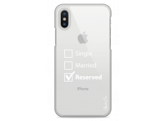 Coque iPhone X Single Married Reserved