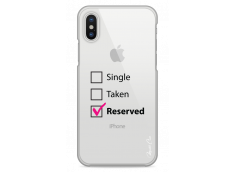 Coque iPhone X Single Taken Reserved