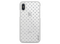 Coque iPhone X Silver glitter dots