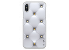 Coque iPhone X Silver & gold dots pattern